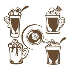 Hot drinks vector
