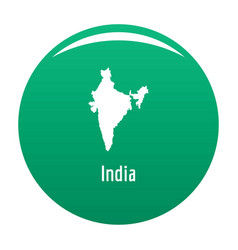 India map in black simple vector