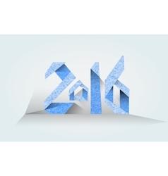 Inscription 2016 blue on a light background vector