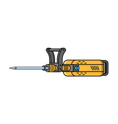 jachhammer construction electric tool flat style vector image