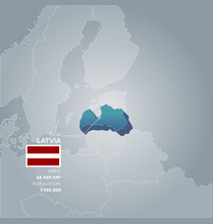 Latvia information map vector