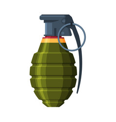 Lemon shaped hand grenade military army weapon vector