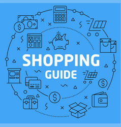 Linear shopping guide vector