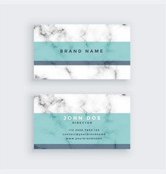 Marble business card design with pastel color vector