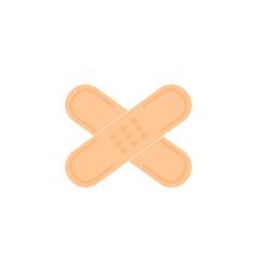 medical plaster icon filled flat sign for mobile vector image
