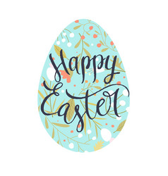 Modern hand drawn lettering happy easter vector