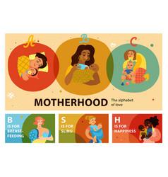 motherhood horizontal banners vector image