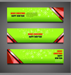 new year christmas banners vector image