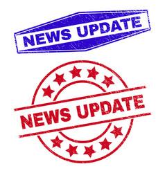 News update unclean seals in round and hexagonal vector