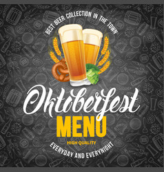 oktoberfest menu template vector image