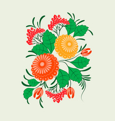 ornament in the slavic folk style vector image