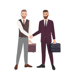 pair businessmen business partners employees vector image