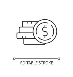 pile money linear icon vector image