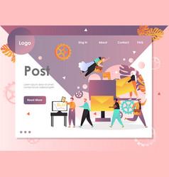 post website landing page design template vector image