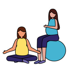 pregnancy and maternity scene flat vector image