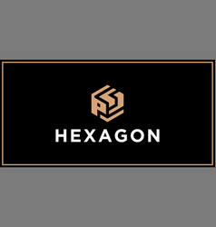 Ps hexagon logo design inspiration vector