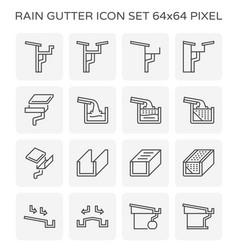 Rain gutter icon vector