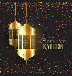 ramadan background with confetti vector image