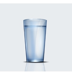 Realistic glass of water vector image
