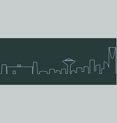 Riyadh single line skyline vector