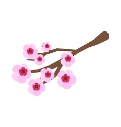 Sakura icon isometric 3d style vector