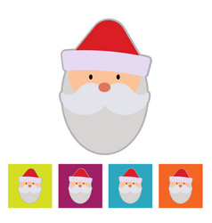 santa claus new year icon vector image