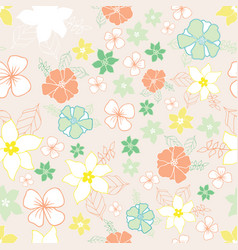 seamless repeat floral pattern vector image