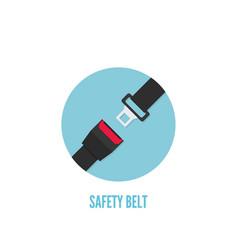 seat belt icon vector image