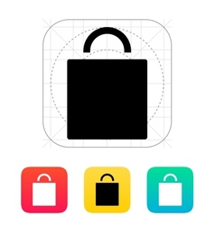 Shopping bag icon vector image vector image