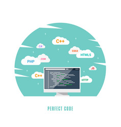 software development concept vector image