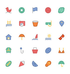 Summer Colored Icons 5 vector