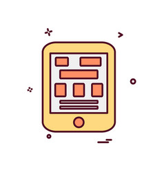 tablet icon design vector image
