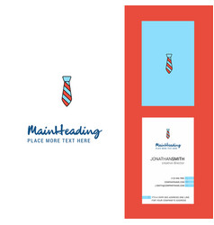 tie creative logo and business card vertical vector image