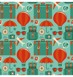 travel pattern vector image