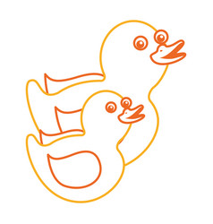 Two plastic ducks toy for childs vector