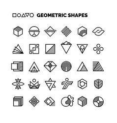 Universal black and white geometric shapes vector