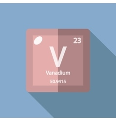 Chemical element Vanadium Flat vector image vector image