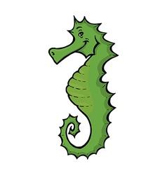 green seahorse vector image vector image