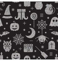 Seamless Halloween silver textured pattern vector image