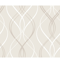 Abstract seamless geometric pattern with wavy line vector image vector image