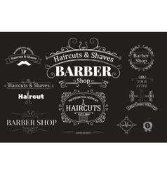 barber shop logotypes vector image