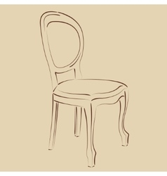 Elegant sketched chair vector image vector image