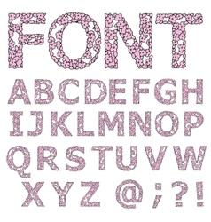 Font Flower design vector image