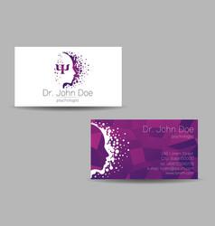 Psychology visit card modern sign vector