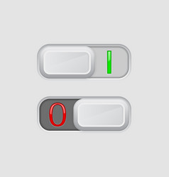 toggle switch on and off buttons vector image