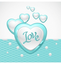 Valentines Day background Gift card and flyer vector image