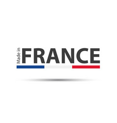 made in france colored symbol with french tricolor vector image vector image