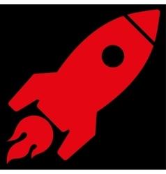 Rocket Launch Icon vector image vector image