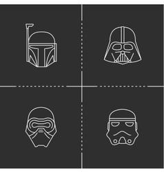 Space heroes mask vector
