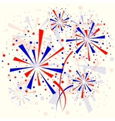 Background with fireworks vector image vector image